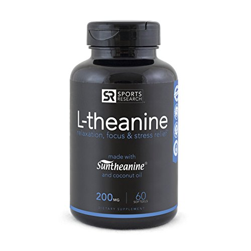Suntheanine® L-Theanine 200mg (Double-Strength) in Cold-Pressed Organic Coconut Oil