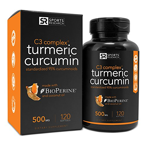 Sports Research Turmeric Curcumin C3 Complex 500 Mg with