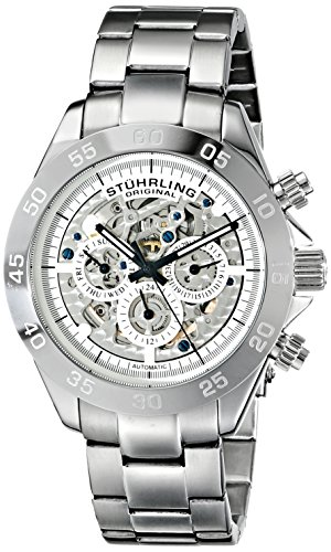 $172.50 Stuhrling Original Men's 487.01 Symphony Elite Automatic Skeleton Multifunction