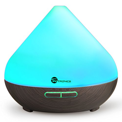 TaoTronics Essential Oil Diffuser, 300ml Wood Grain Zen Style