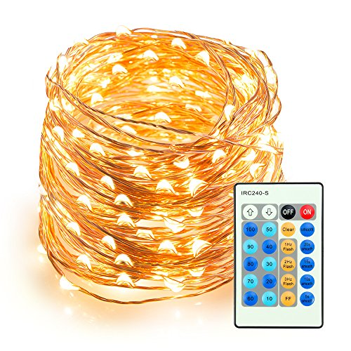 LED String Lights 66ft 200 LEDs TaoTronics Dimmable Festival