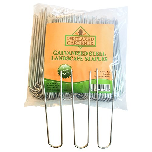 100 Galvanized Steel Landscape Staples By The Relaxed Gardener