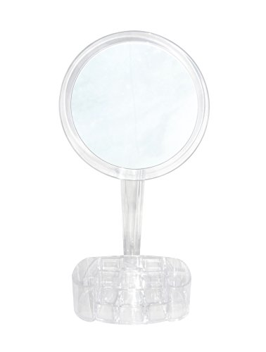 7x Magnified Makeup Mirror with Cosmetic Organizer Base