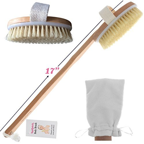 ON SALE TopNotch Body Brush - Natural Boar Bristles