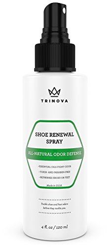 Natural Shoe Deodorizer - Safe Spray for Feet and