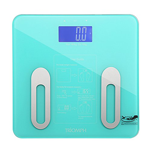 Triomph Digital BMI Body Fat Scale with Step-On Technology