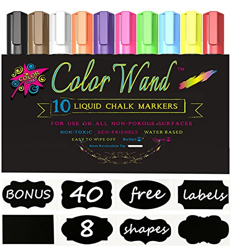 LIQUID CHALK MARKERS - Chalkboard Markers Pens with 40