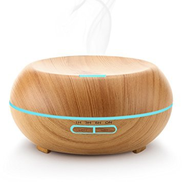 URPOWER 200ml Aromatherapy Essential Oil Diffuser with Color LED