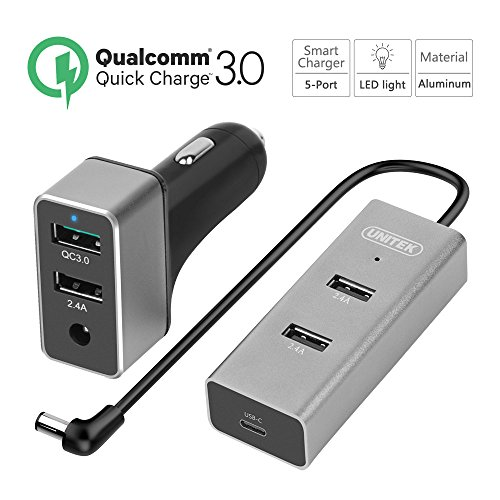 Quick Charge 3.0 Dual Car Charger+ 3-Port USB Hub