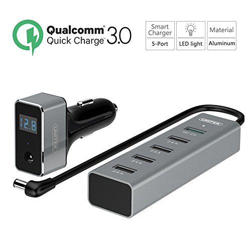 Quick Charge 2.0 Car Charger + 5-Port USB Hub