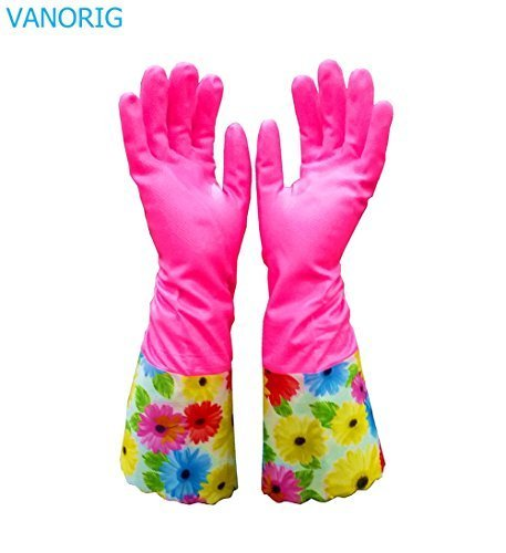 Deluxe Cleaning Glove Kitchen Gloves VANORIG Thickening PU Waterproof
