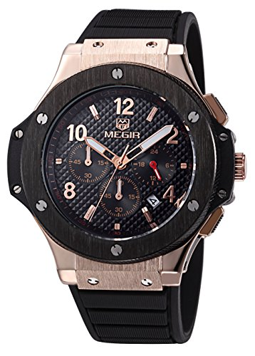Voeons Men\'s Chronograph 24 Hr Indicator Military Sports Watches