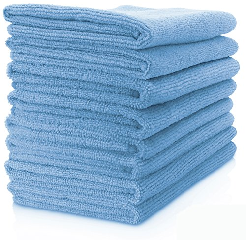 Vibrawipe Microfiber Cloth - Pack of 8 Pieces (All-Blue)