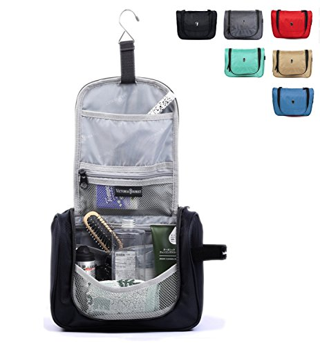 Victoriatourist Hanging Toiletry Kit Clear Travel BAG Cosmetic Carry