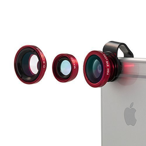 Vinsic® Camera Lens, Universal Detachable 180° Fish Eye Lens