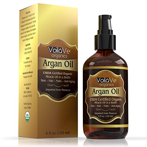 Virgin Organic Argan Oil for Hair  Face -