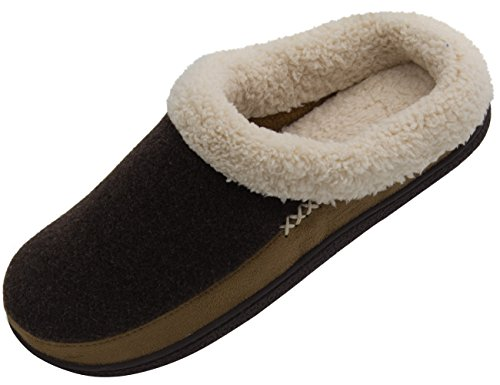Vonmay Men\'s Wool Plush Fleece Lined Slip On Memory