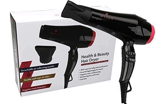 Wazor Hair Dryer 1875W Professional Blow Dryer Negative Ionic