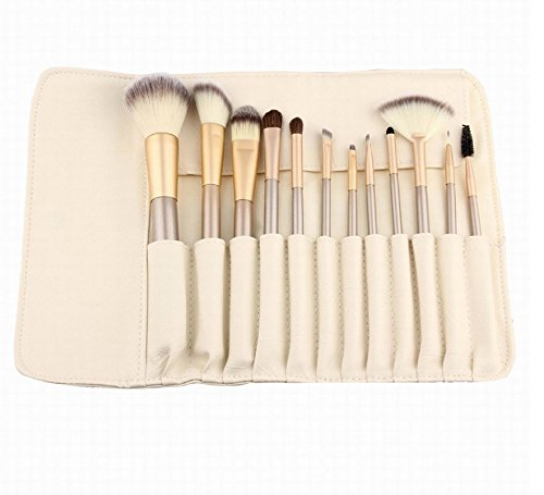 12 Piece Makeup Brushes Set | Horse Hair Professional