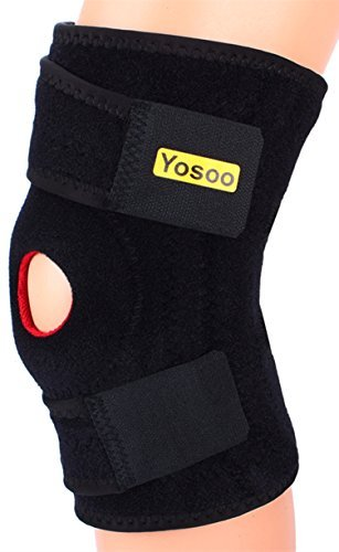 Yosoo Adjustable Neoprene Knee Support Brace with Basic Open