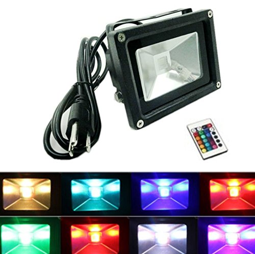 ZHMA RGB LED Flood Light,10W 16 Colors lights