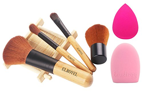 ZOREYA Makeup Brush Set - 4 Piece Bamboo Brush