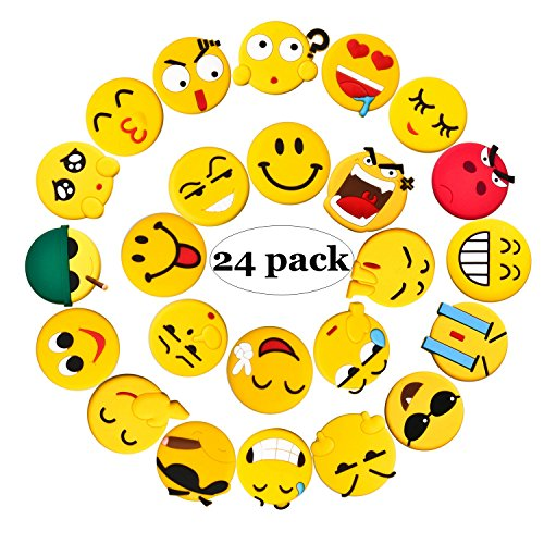 Emoji Fridge Magnets, 24 Pack Refrigerator Magnets with Funny