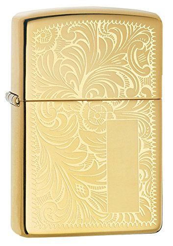 Zippo Lighter High Polish Brass Venetian