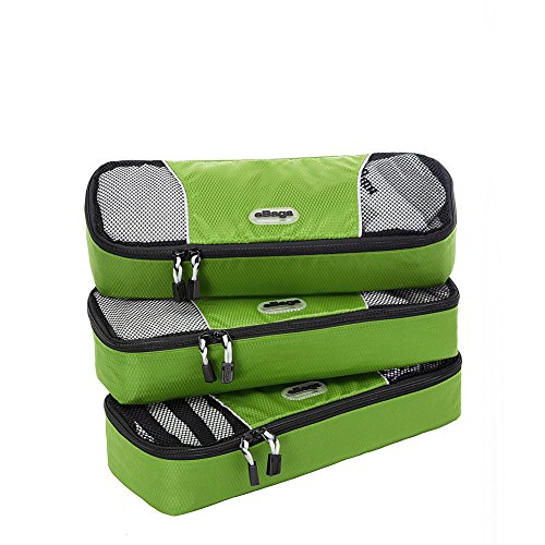 eBags Slim Packing Cubes - 3pc Set (Grasshopper)