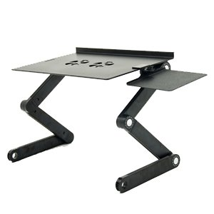 iCraze Adjustable Vented Laptop Table Laptop Computer Desk Portable
