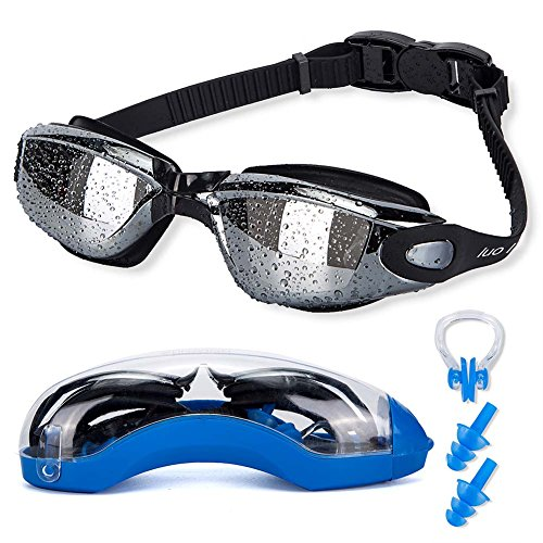Anti Fog UV Protection Clear Swimming Goggles Bundle with