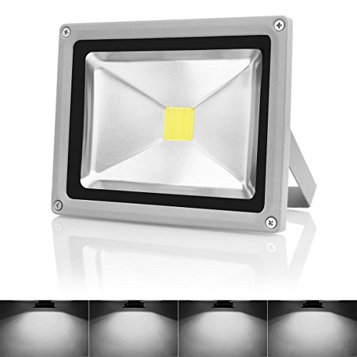 Warmoon Outdoor LED Flood Light, 20W Daylight White 6500K