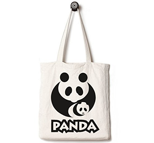 Get A Free Andes Heavy Duty Canvas Tote Bag, Handmade from 12-ounce Pure Cotton, Perfect for Shopping, Laptop, School Books,Panda Mom and Newborn Baby