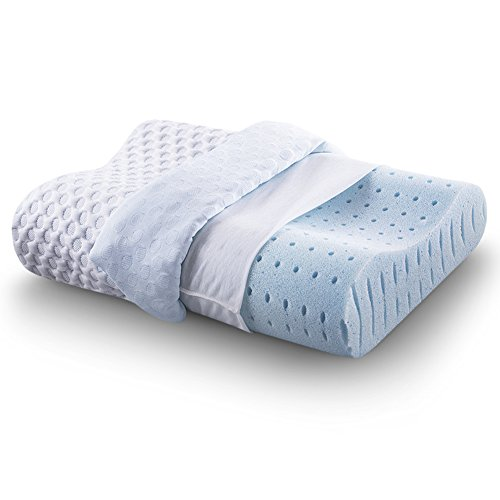 Cr Sleep Ventilated Memory Foam Contour Pillow with AirCell