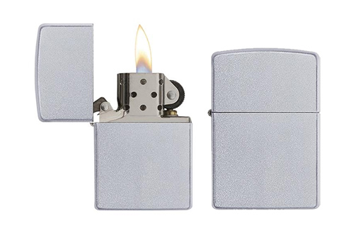 Get A Zippo Satin Chrome Lighter!
