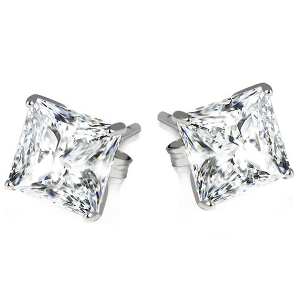 Get Free Sterling Silver Princess Cut Earrings!