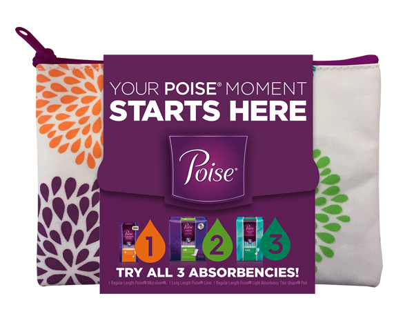 Get Free Poise Samples In A Zipper Bag!