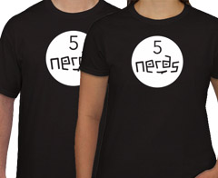 Get A Free T-shirt From 5 Nerds!