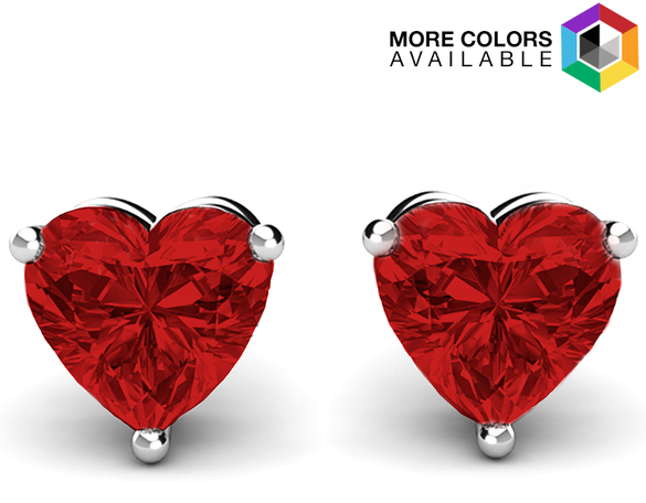 Get Free Multicolor Heart Studs with Swarovski Elements!