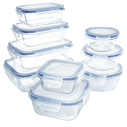 Glass Food Storage Container Set - BPA Free -
