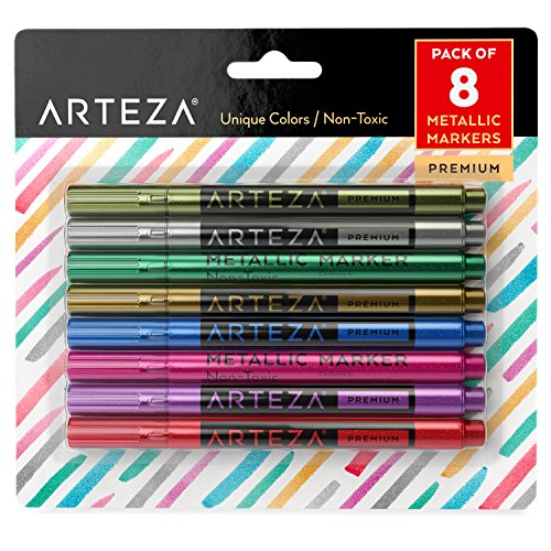 Arteza Wine Glass Metallic Markers - Pens (Set of