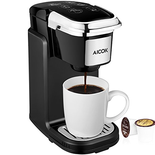 Aicok Single Serve Coffee Maker, Coffee Machine with Removable