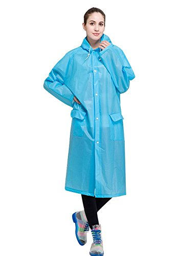 AIRCEE Lightweight Easy Carry Poncho Wind Hooded Jacket Raincoat