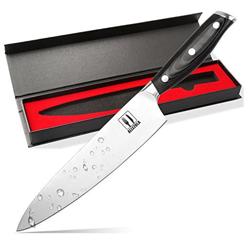 Allezola Professional Chef's Knife, 7.5 Inch German High Carbon
