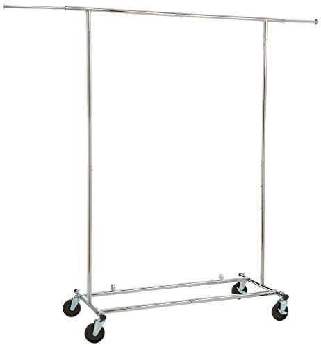 AmazonBasics Heavy Duty Steel Garment Rack on Wheels -