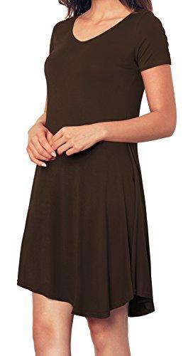 Angerella Tunic Dress Short Tunic Casual Loose T Shirt