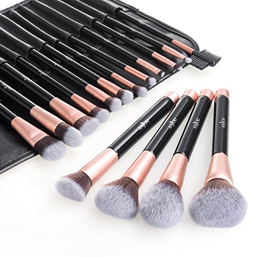 Makeup Brush Set, Anjou 16pcs Premium Cosmetic Brushes for