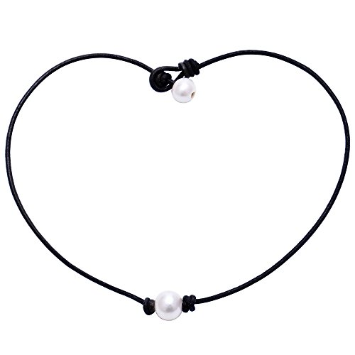 Aobei Pearl Single Cultured Freshwater Pearl Necklace Choker for