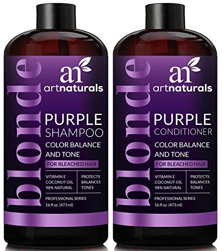 ArtNaturals Purple Shampoo and Conditioner Set – (16 Fl