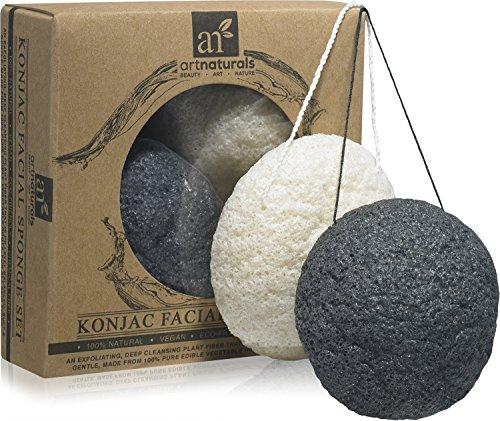 ArtNaturals Konjac Facial Sponge Set, Oily and Acne Prone
